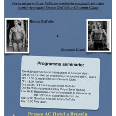 Seminario Evo Diet e HIT training